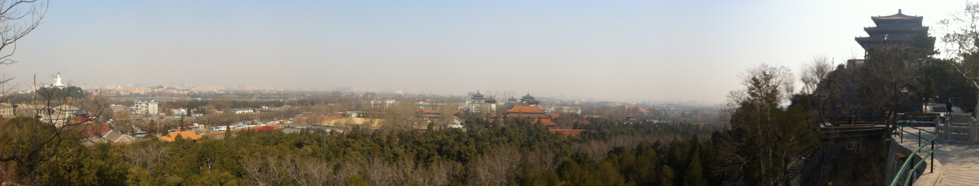 Vue depuis la montagne de charbon